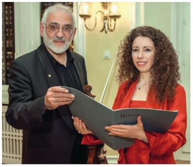 Prof. Michel Gershwin (Violine) Anna Tyshayeva (Klavier)